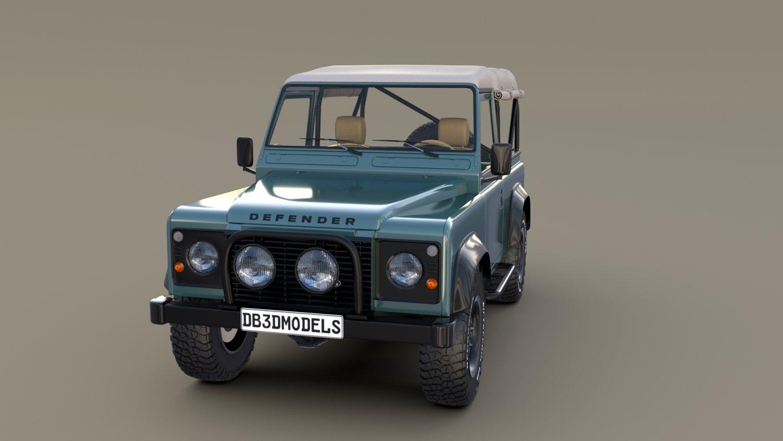 1985 Land Rover Defender 90 With Interior Ver 4 3d Model In Suv 3dexport Lights