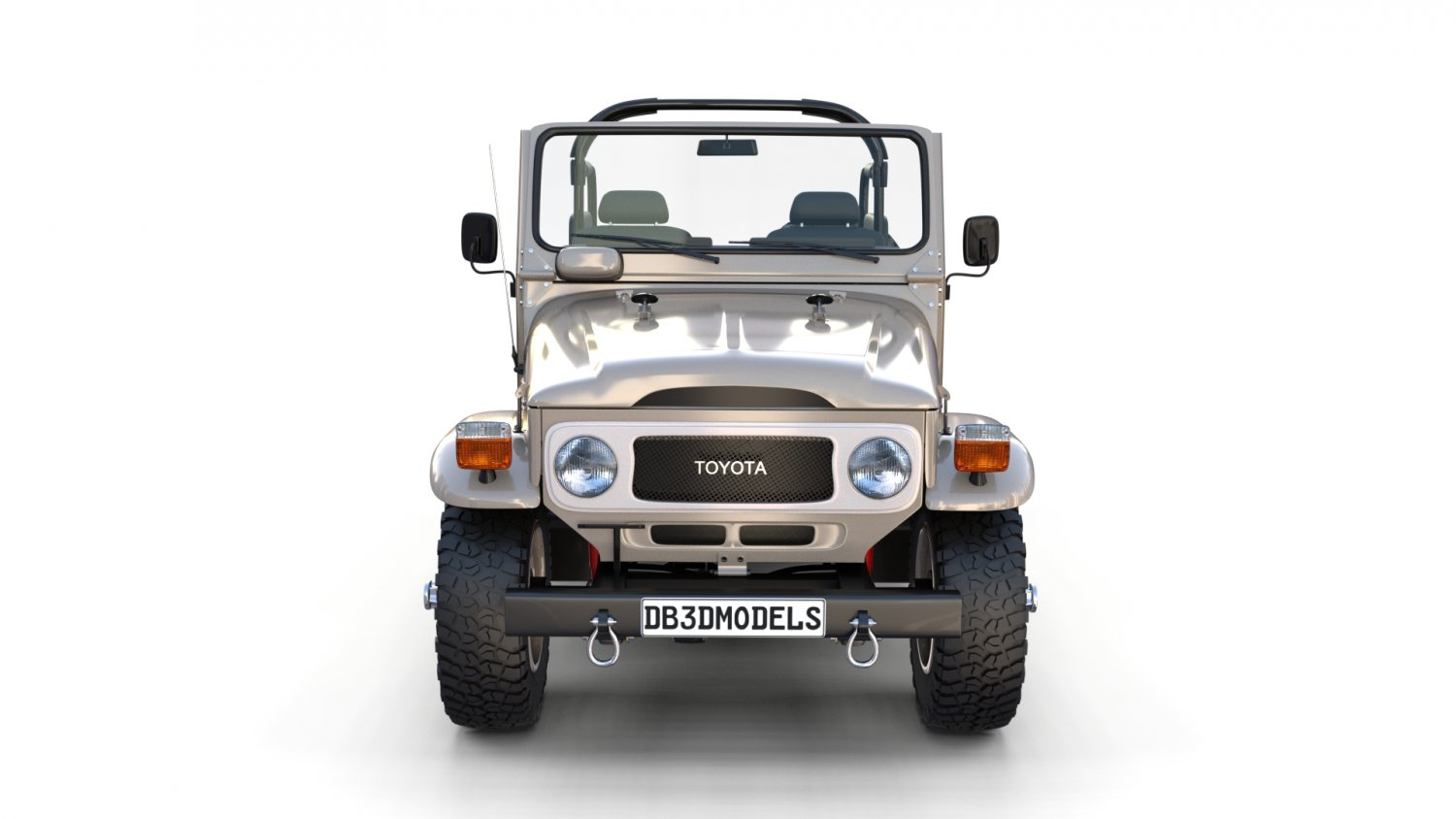 Toyota Land Cruiser Fj 40 Top Down With Interior 3d Model In Classic 1960 Fj40 Cars 3dexport