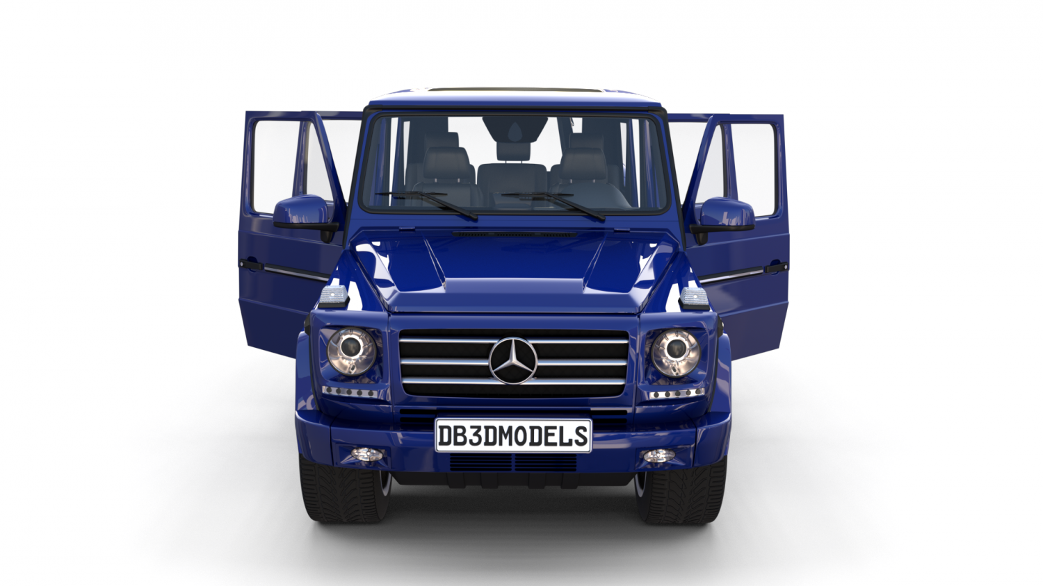 Mercedes Benz G Class with interior Blue 3D-Modell in Autoteile 3DExport