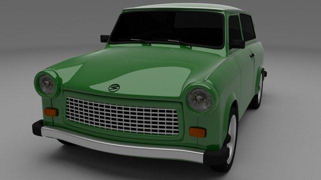 Trabant 601 Estate 3D Model