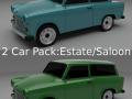 Trabant 601 SedanEstate Pack 3D Model