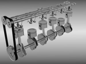 Animated L6 Engine