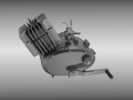 Moped Engine 3D Model