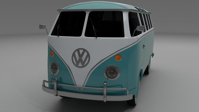 VW Bus Mk 1 3D Model