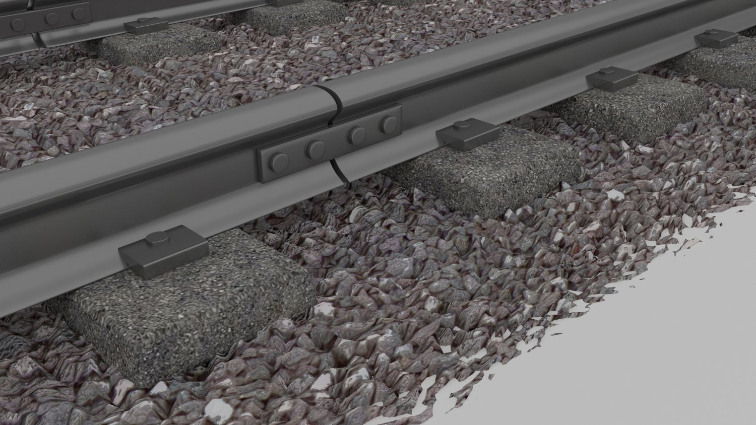 TrainSubway Track 3D Model in Train 3DExport