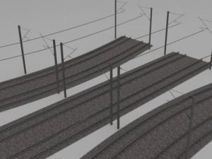 Electrified train line