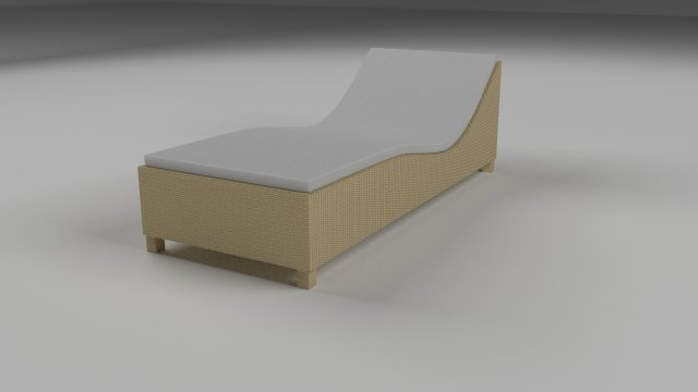 Wicker Lounge 3D Model
