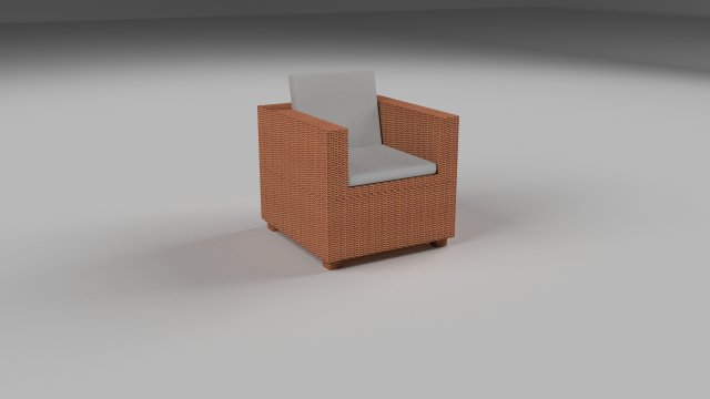 Wicker Armchair 3D Model