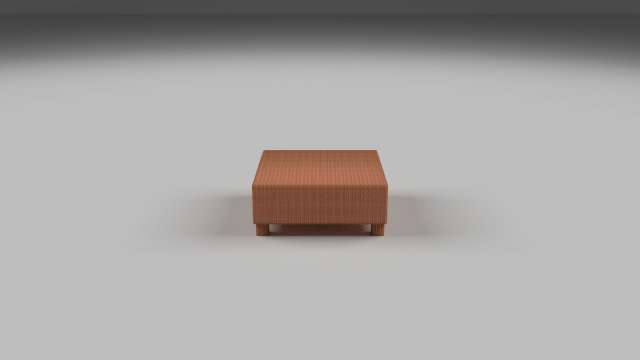 Download free Wicker Table 3D Model