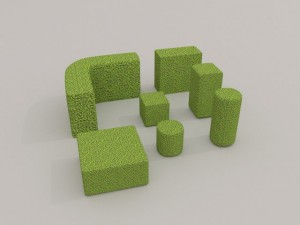 Low Poly Hedge Collection