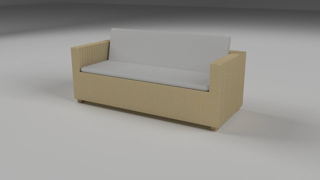 Wicker Couch 2 3D Model