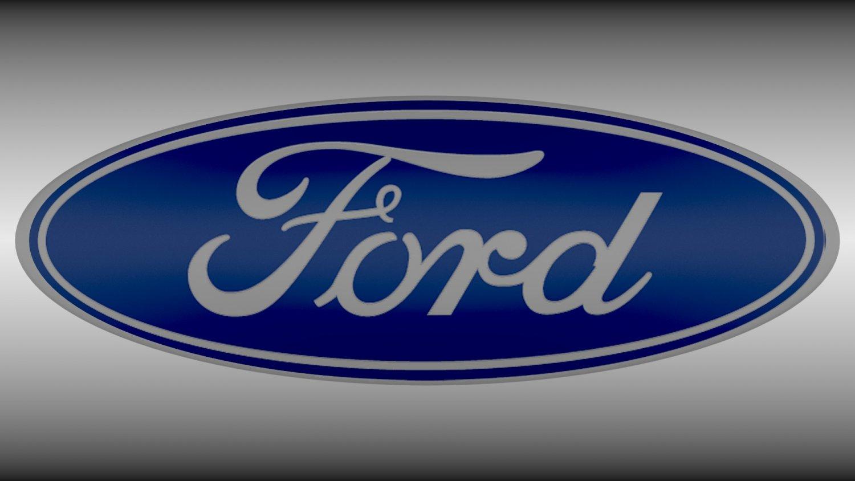Ford Logo 3D Model In Parts Of Auto 3DExport