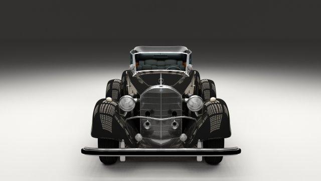 Mercedes 770K Staff Car 3D Model