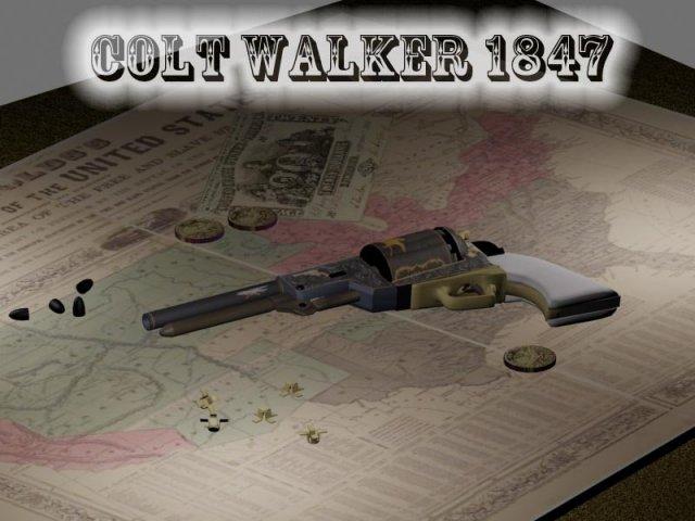 Colt Walker 1847 3D Model in Pistol 3DExport