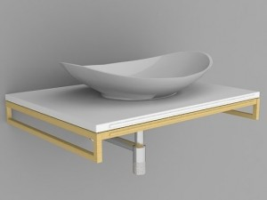 Sink VilleroyBosh Nature 3D Modell