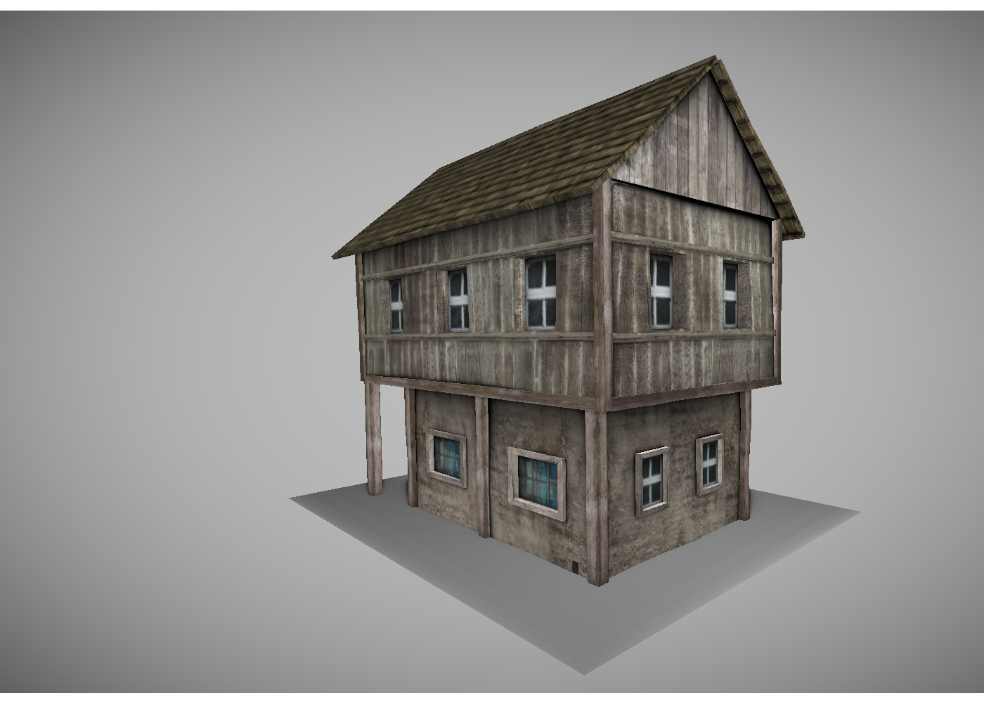 low poly medieval house 3d model in buildings 3dexport - 3d Model Of House