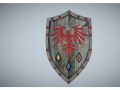 Low poly medieval shield