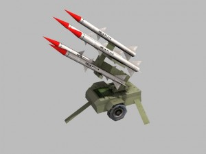 Low poly anti aircraft baterry