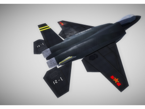 Low poly fighter jet