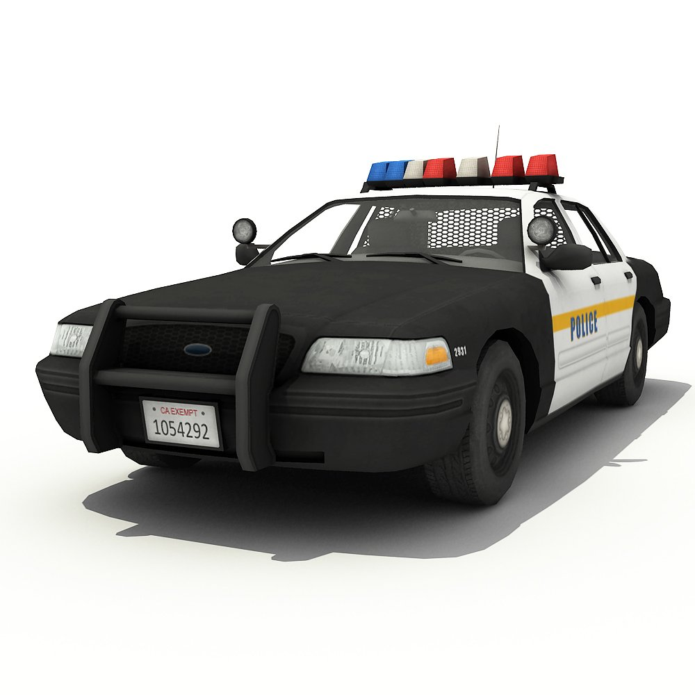 Police Car 3d Model In Sedan 3dexport