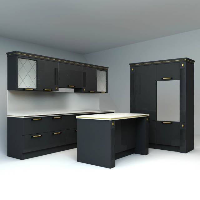 Scavolini kitchen 3D Model in Kitchen 3DExport