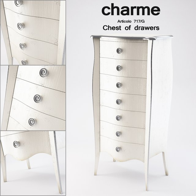 Charme Chest of drawers Articolo 717G 3D Model