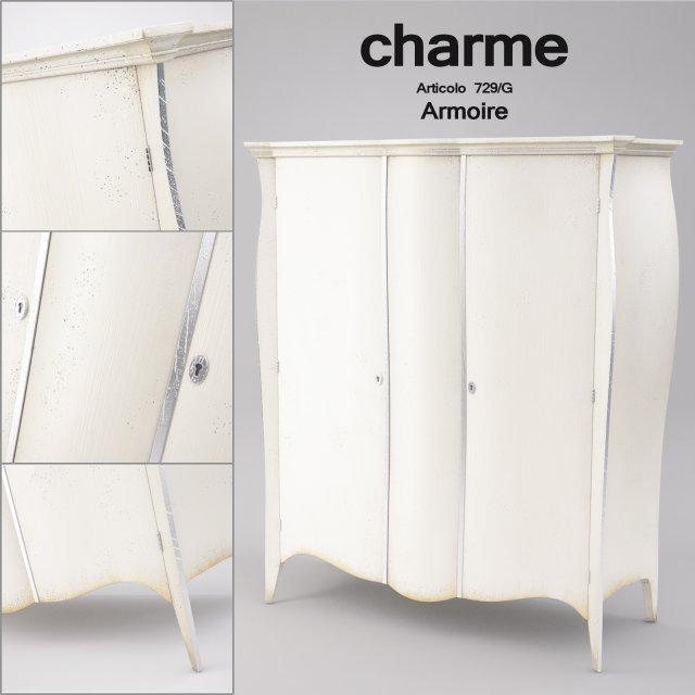 Charme Armoire Articolo 729G 3D Model