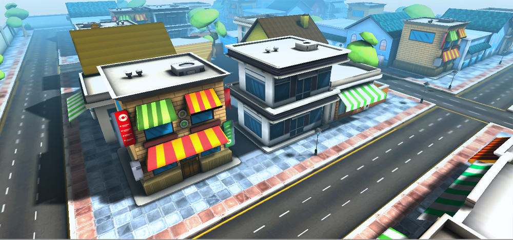 Cartoon city 3D Model in Environment 3DExport
