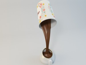 Table lamp vray