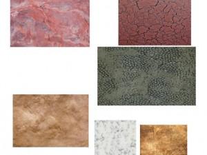 10 textures of decorative plaste