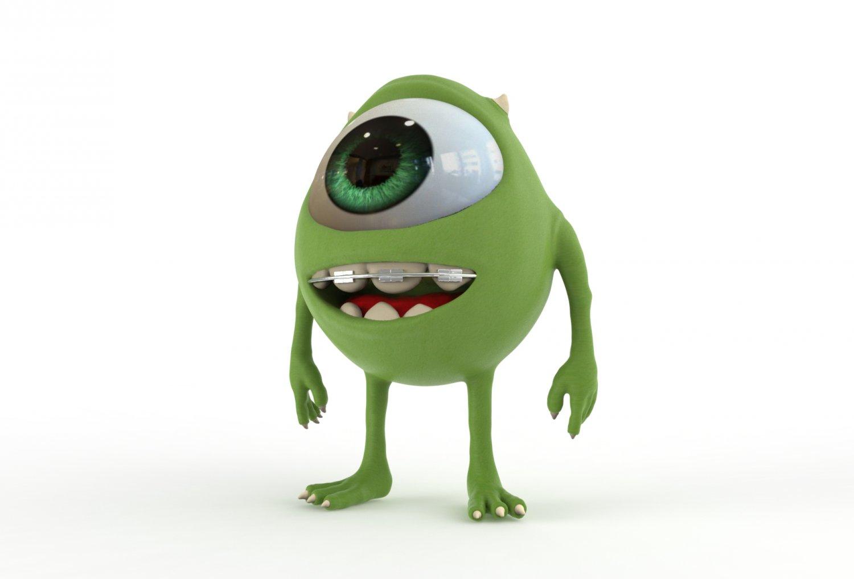 Mike Wazowski Modelo 3D in Dibujos Animados 3DExport