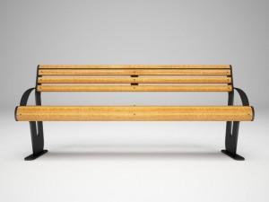Bench for park or garden