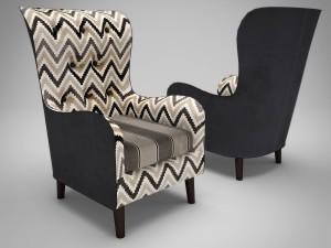 Vintage fabric armchair
