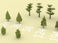 LOW POLYGON PINE TREES