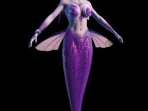 The Mermaid Maya 3d model