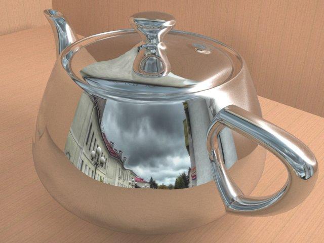 Chrome teapot 3D Model