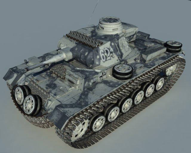 Pz3 Winter 3D Model