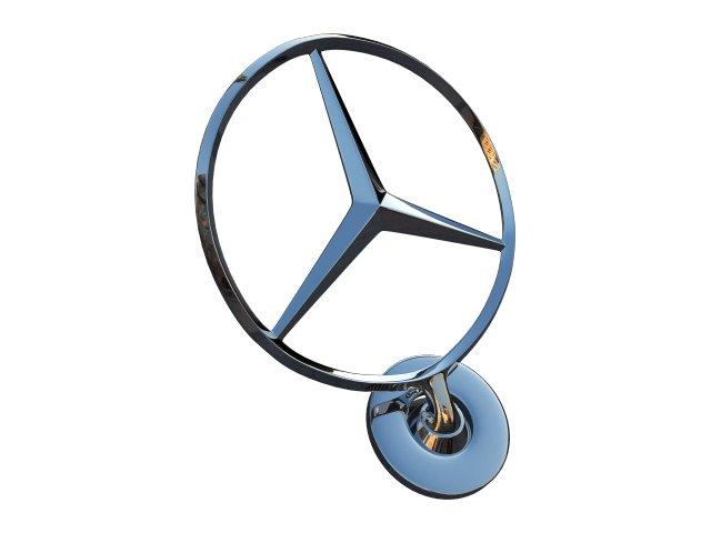 Mercedes Hood Badge 3D Model