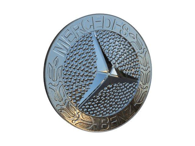 Mercedes Mask Badge 3D Model