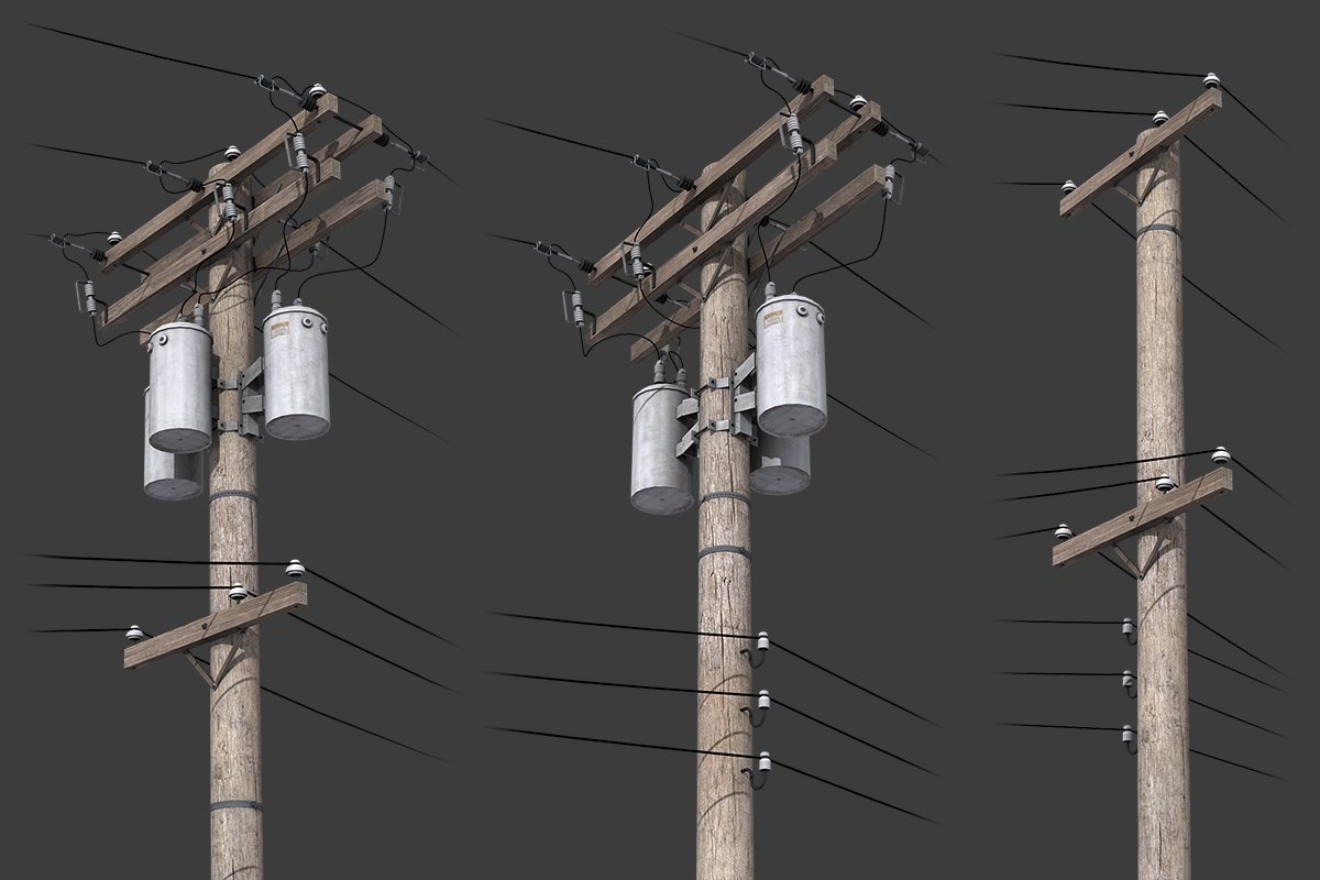 Model Scene OO Telegraph Poles