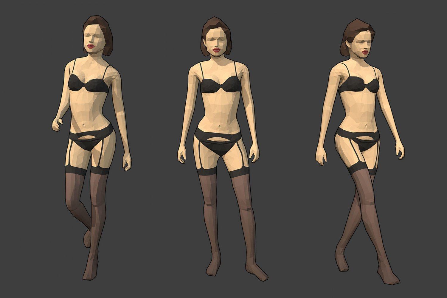 Rigged Lowpoly Female Character - Jane 3D Model in Woman 3DExport