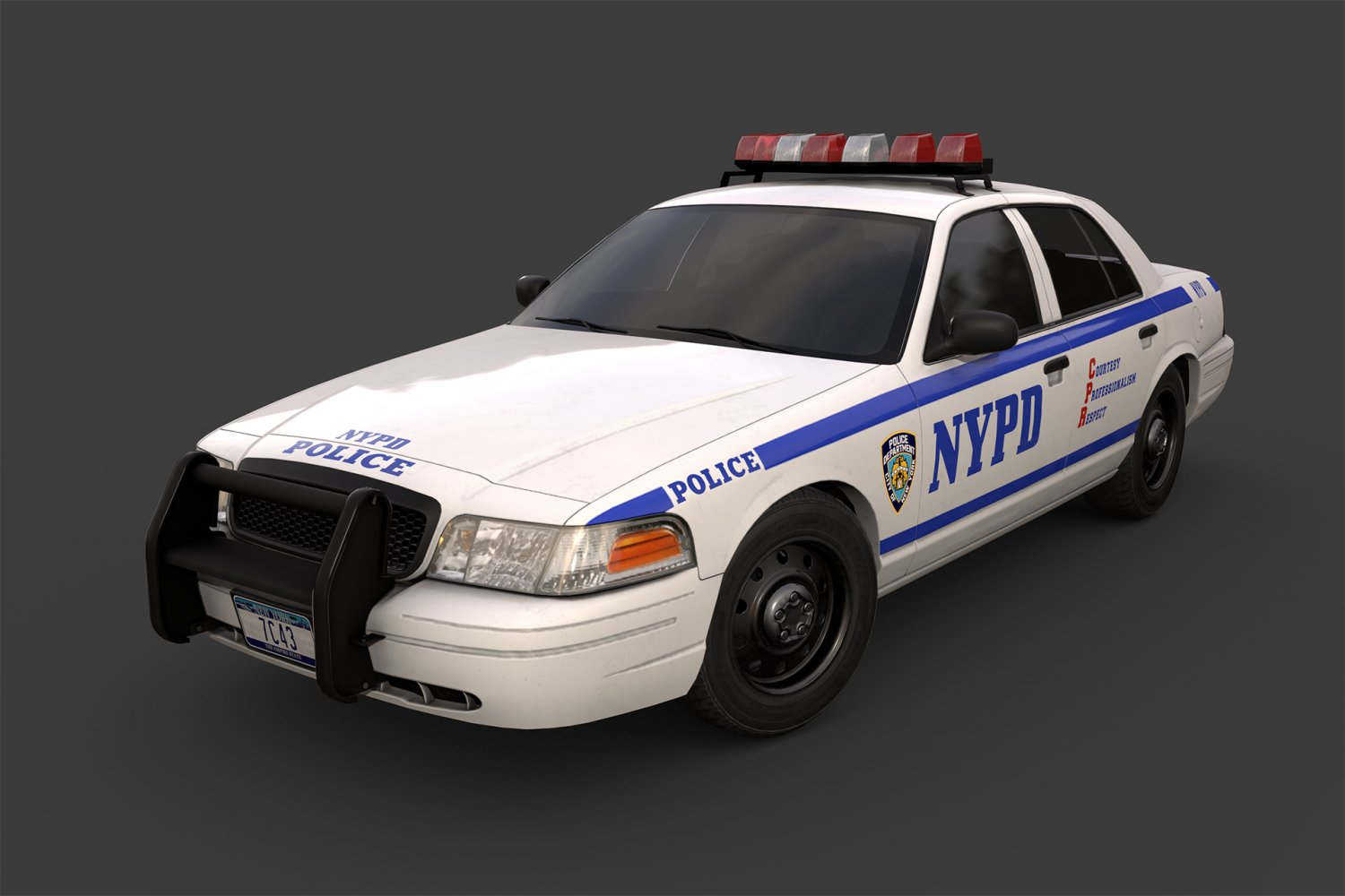 New York Police Car 3d Model In Sedan 3dexport