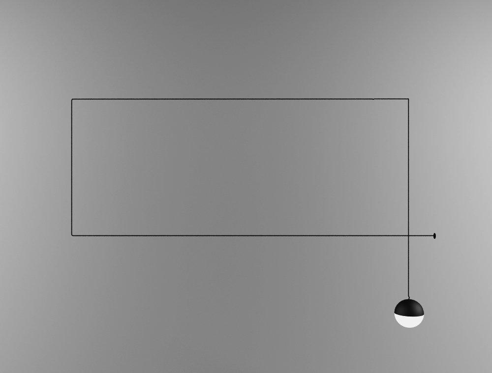 Plafoniera Flos : Flos string light modello 3d in plafoniere 3dexport