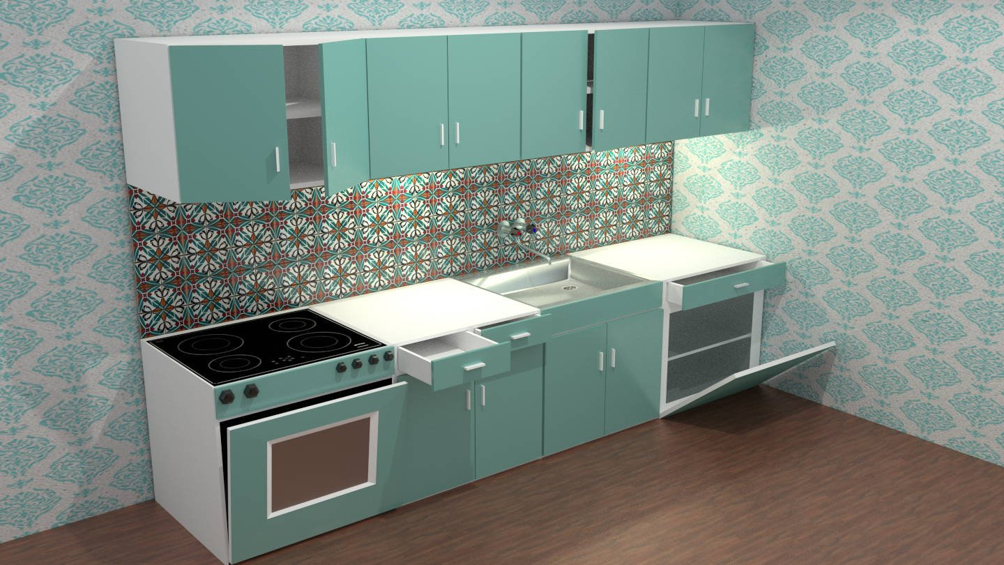 Kitchen Unit low poly 3D Model in Other 3DExport