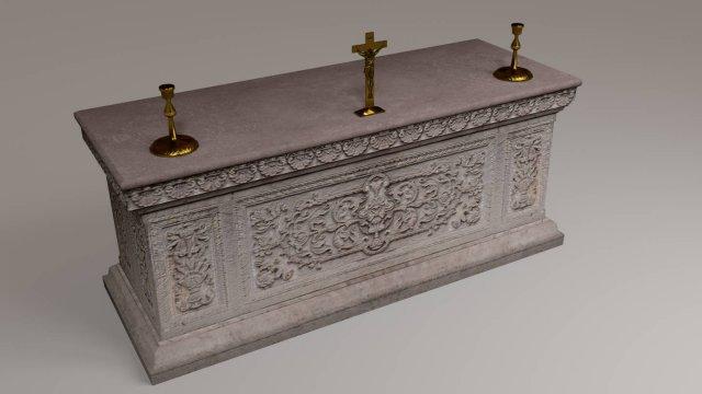 Altar  Low poly 3D Model