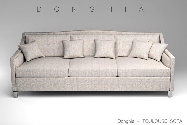 Donghia Toulouse Sofa 3D Model