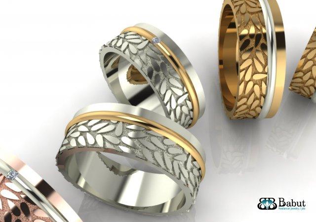Rings wedding 2 rings 3D Model