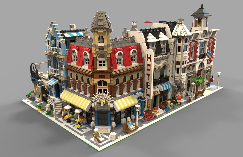 Lego City VR - AR - low-poly 3D Model in Buildings 3DExport