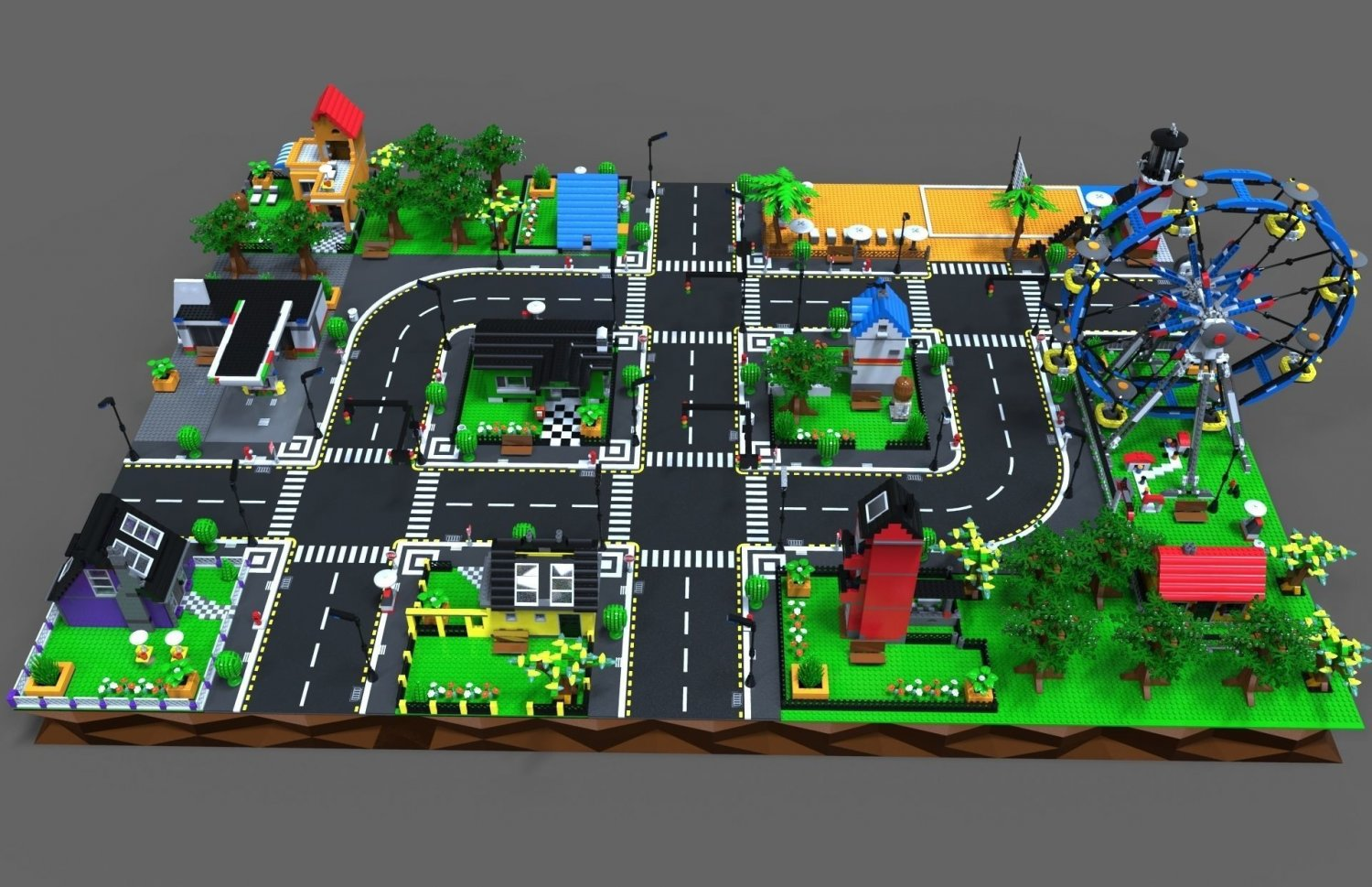 Lego City Game 3d Model In Cityscapes 3dexport