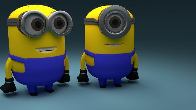 Mini Minions 3D Model